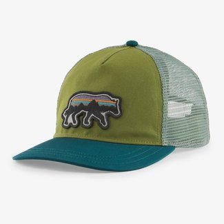 PATAGONIA Patagonia Back For Good Layback Trucker Hat Palo Green w/Wolf One Size