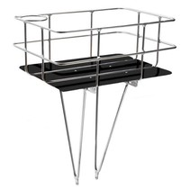 DELANO BASKET SILVER ALLOY/BLACK BASE