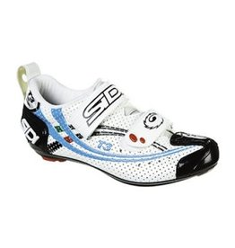 SIDI SIDI T3 CARBON AIR WHITE/BLACK/BLUE 8.75 WOMEN'S