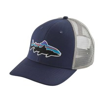 Patagonia Fitz Roy Trout Trucker Hat Classic Navy/Drifter Grey  One Size