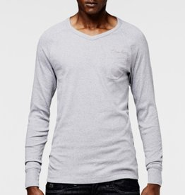 G-Star Fitted lslv v-neck pocket tee