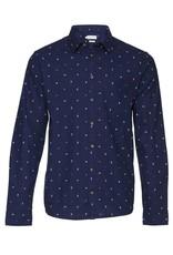 Casual Friday Scissors & Circle Print Slim Fit Dress Shirt