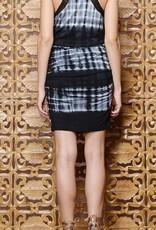 Greylin Eliza Tie-Dye Knit Ruched Dress
