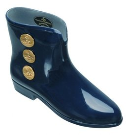 Melissa Shoes Vivienne Westwood Anglomania + Melissa ankle boot w/side gold buttons