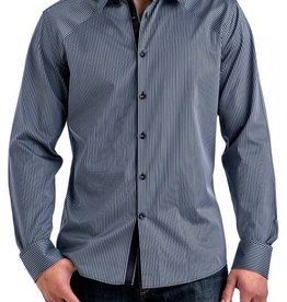 Stone Rose Textured Stripe Dress Shirt
