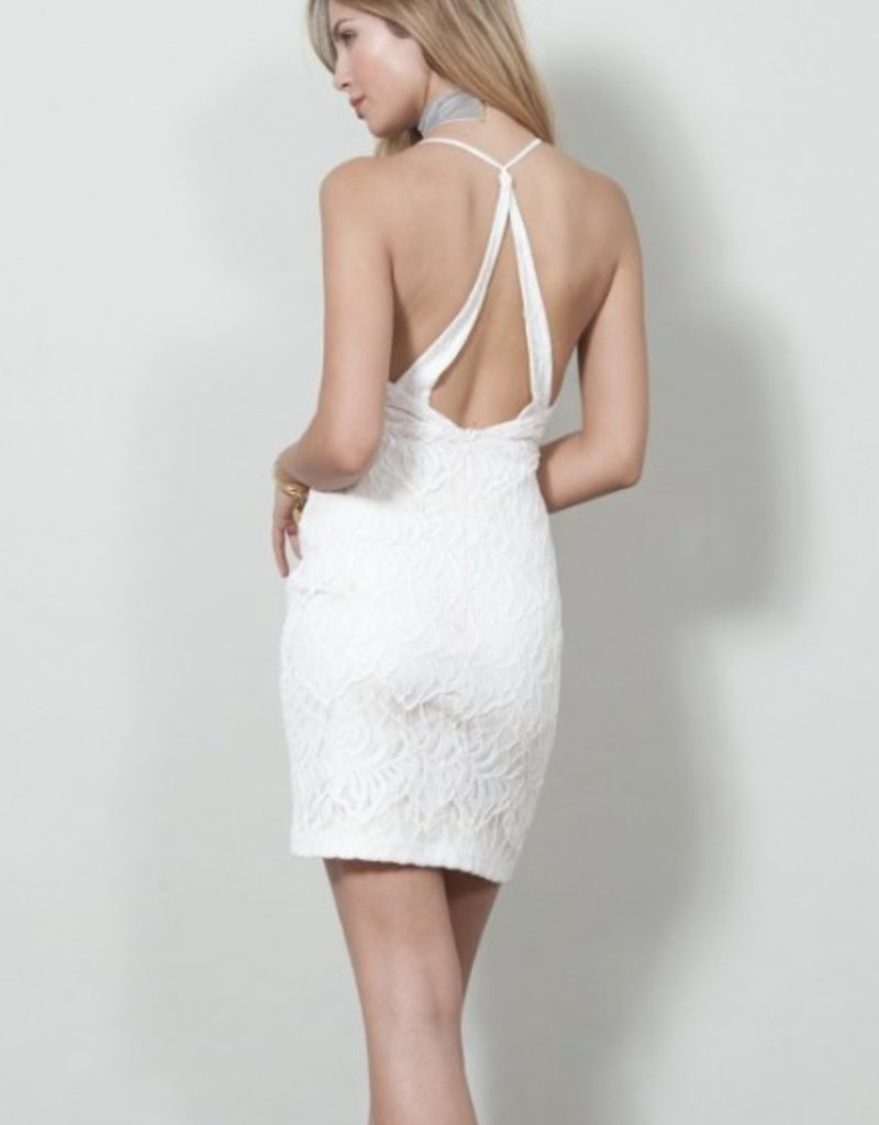 Wyldr Hands Down - Lace V-Neck Back Cutout Cami Dress