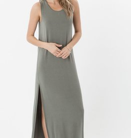 Z Supply The High Slit Crew Neck Tank Maxi Dress