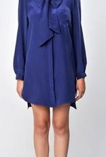 Greylin Ava silk tie shirt dress