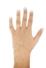Blee Inara Sterling Silver 22K Rose Gold Plated Love Harem Bracelet