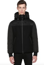 Mackage Liron Classic Down Jacket with Wool Front & Hood