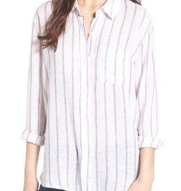 Rails Charli Stripe Linen Blend Button Down L/S Shirt