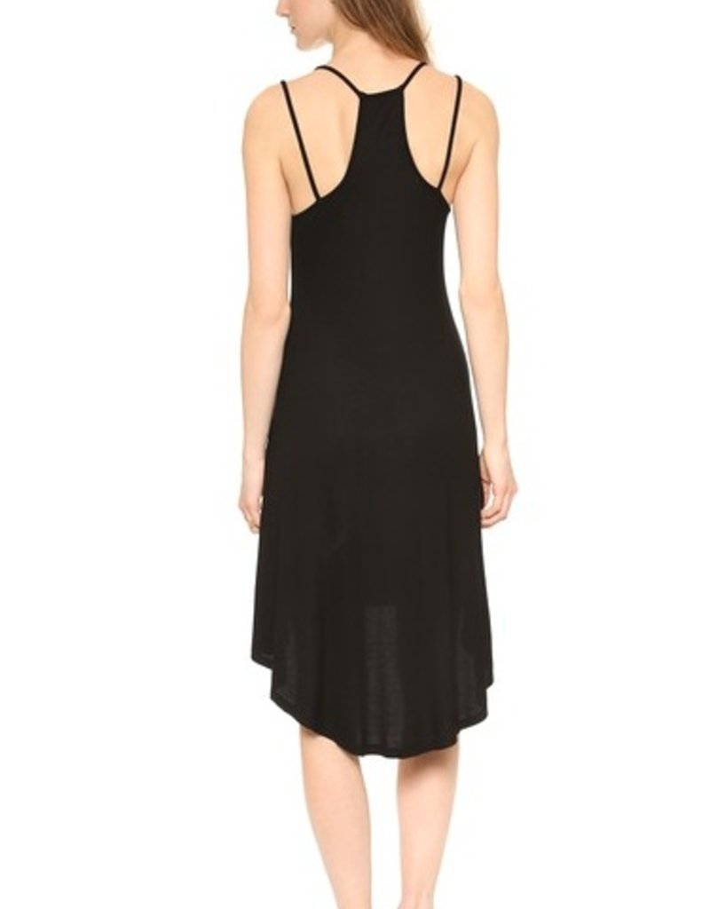 Splendid 2x1 Rib Double Straps High-Low Swing Dress