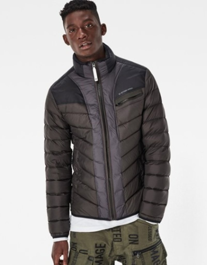 G-Star Attacc Full Zip-Up Quilted Lightweight Down Colorblock Jacket