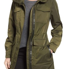 Mackage Taryn Belted Satin Poly Cargo Anorak Jacket