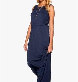 "Soaked in Luxury <li>Color: Royal Blue<br /><li>Round neckline<br /><li>Upper front and back embroidered crochet lace insert<br /><li>Sleeveless<br /><li>Elastic waist<br /><li>Length: 155cm / 61"". Measured from a small.<br /><li>95% Viscose, 5% Elastane<br /><li>Made in China"