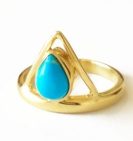 Elizabeth Stone Triangle Ring