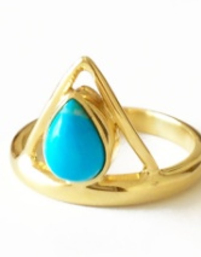Elizabeth Stone Triangle Ring