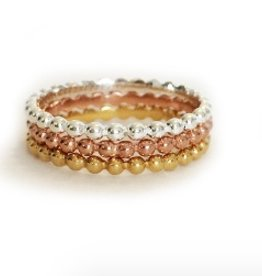 Elizabeth Stone Ball stacking rings