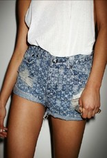 One Teaspoon Paisley Hawks high waisted short w/ frayed pockets & rolled cuffed hem