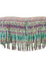 L Space Plumage - Dolly Straight Fringe Bandeau bikini top