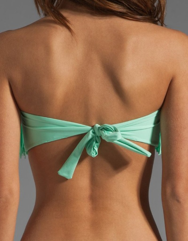 L Space Fringe - Dolly Knotted Fringe Bandeau bikini top