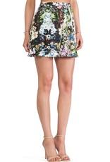 Ladakh Floral Frenzy shirred waist skirt
