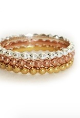 Elizabeth Stone Dots Stacking rings