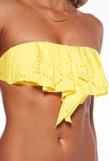 L Space Flutter Bye - Hunter Rose Bandeau Bikini Top