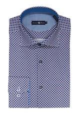 Stone Rose Geometric Print Dress Shirt