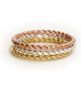 Elizabeth Stone Twisted Stacking ring