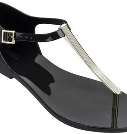 Melissa Shoes Honey Chrome T-Strap Buckle Sandals