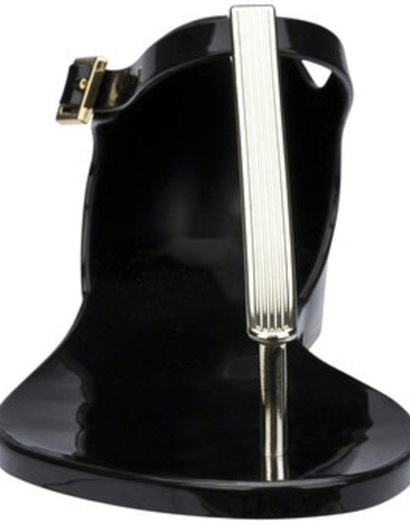Melissa Shoes Honey Chrome T-Strap Buckle Sandals