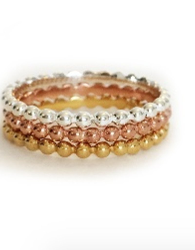 Elizabeth Stone Dots Stacking rings-GOLD