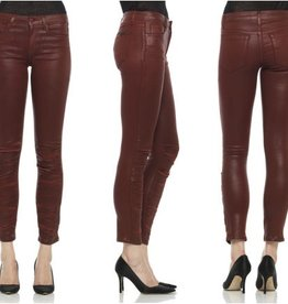 Joe's Jeans Coated color ruched skinny ankle