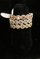 Romeo + Juliet Crystal round rhinestone ring