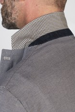 Marco Nils Dyed Houndstooth Blazer w/ Square Trim & Handkerchief, Denim Trim & Elbow Patches
