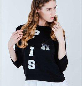 Silvian Heach Aldeghi PARIS Crew Neck 3/4 Sleeve Sweatshirt