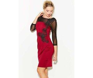 Lipsy lace applique mesh midsleeve bodycon dress romeo juliet