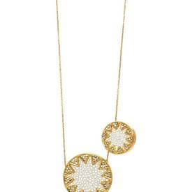 House of Harlow Sunburst Station Necklace