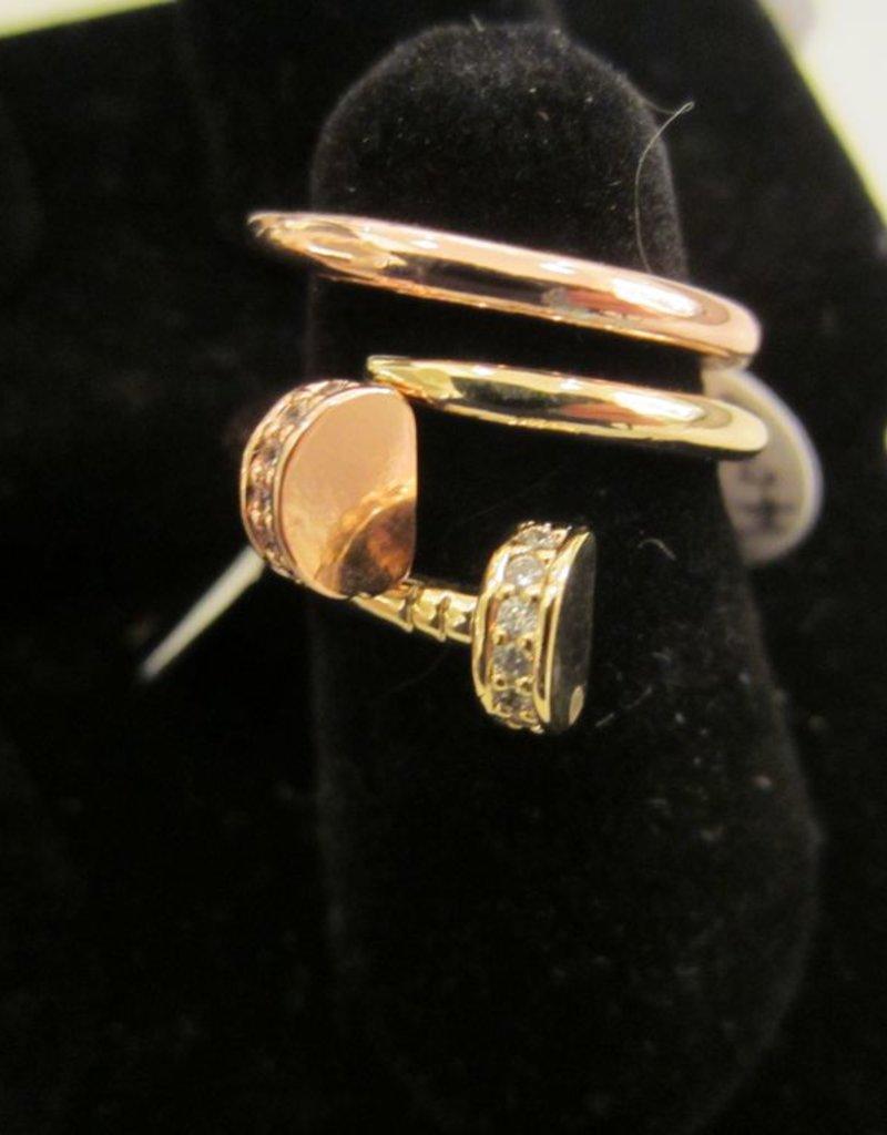 Romeo + Juliet Nail rhinestone wrap ring
