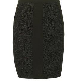 Darling Peony cutaway lace skirt