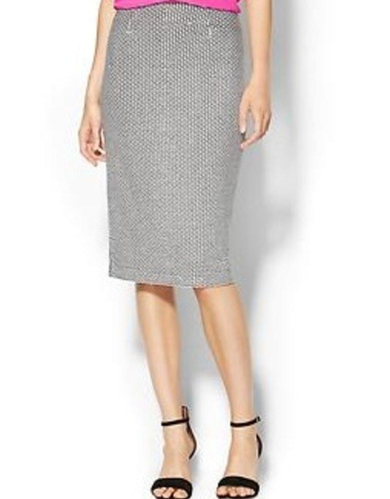 Greylin Ellis textured fabric pencil midi skirt