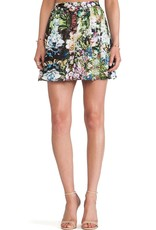 Ladakh Floral Frenzy shirred waist skirt