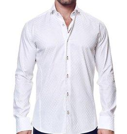 Maceoo Elegance White Gold Dress Shirt