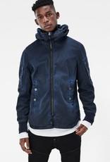 G-Star Batt Hooded Full Zip-Up Twill Overshirt Jacket