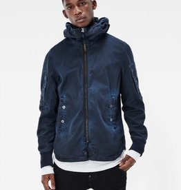 G-Star Batt Hooded Full Zip-Up Twill Overshirt Jacket