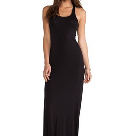 Bella Luxx Rayon Spandex - Relaxed scoop neck slvls racerback maxi dress