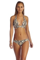 Vitamin A Python Print Sirena Wrap Bikini Top