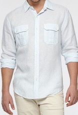 Vince Stripe Linen Dress Shirt