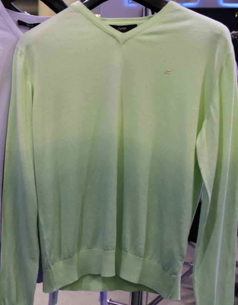 Avva Yesil ombre tie-dye lslv v-neck knit sweater